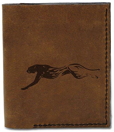 MHLT Abstract Wallet b Leather Cheetah Cheetah Genuine Abstract 1 04 Handmade Men's Natural n07w4YqWw5