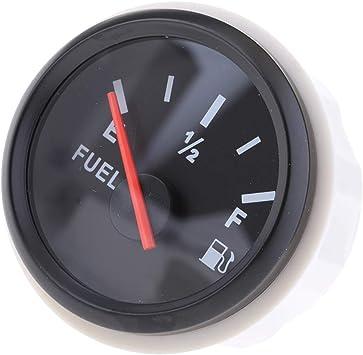 Indicatore temperatura olio digitale universale 52mm 50-150 ℃ con retroilluminazione rossa 12V//24V per moto da barca a motore Indicatore misuratore livello carburante olio Nero