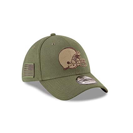 8c09dadae5b New Era Authentic Cleveland Browns Mens NFL 2018 Salute to Service 39Thirty  Flex Fit Hat (