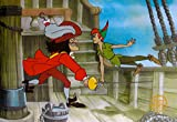 Art by Disney Peter Pan & Captain Hook Limited Edition Sericel Animation Art Cel Measures Approx. 11 Inches X 14