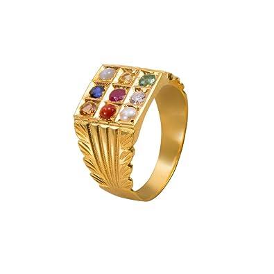 Buy Joyalukkas Navarathna Collections 22k Yellow Gold and Gemstone