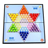 Baoblaze Plastic Magnetic Foldable Chinese Checker Set Board Travel Game Full Complete Chess