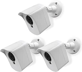 Mounting Kit for Wyze Cam (3 pcs White) - Outdoor Case for Wyze Camera & v2 1080p Full HD w/Screw Mounts - Wyze Waterproof Cover with Wall Mount Bracket - Solid Housing for Wyze Cams by SULLY