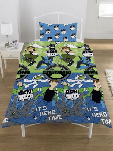 Ben 10 Hero Time Single Duvet Set Zap Ltd SR1-BEN-HER-12