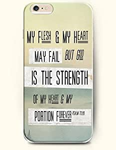 SevenArc Hard Phone Case for Apple iPhone 6 Plus ( iPhone 6 + )( 5.5 inches) - My Flesh And My Heart May Fall But...