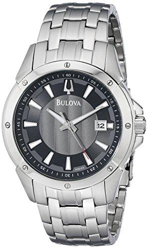 Bulova-Mens-96B169-Classic-round-bracelet-Watch