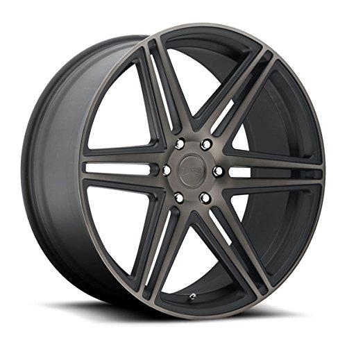 DUB Skillz 22 Black Flake Wheel / Rim 6x5.5 with a 30mm Offset and a 78.1 Hub Bore. Partnumber S123229577+30 Dub Custom Wheels