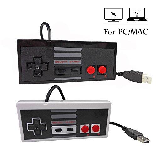 - Mekela 2 Packs 5.8 feet Classic USB wired Controller for NES Gaming, Retro Game Pad Joystick Raspberry Pi Gamepad for Windows PC Mac Linux RetroPie NES Emulators (Blcak1 and Gray1)