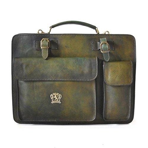 (Pratesi Milano Briefcase - B466/40 Bruce (Green) )