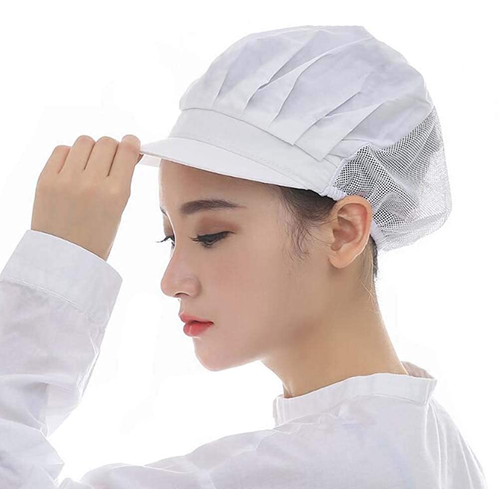 Nanxson 3pcs Unisex Solid Color Mesh Industrial Workshop Protective Working Kitchen Hats Hair Net CF9033