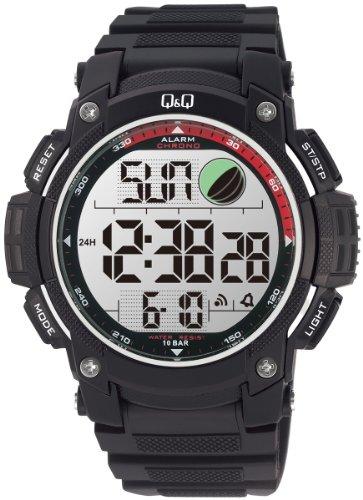 Q amp;Q Standard Dual Time Digital White Dial Men #39;s Watch M119J004Y