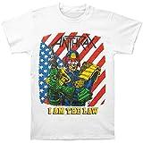 Anthrax Men's I Am The Law Vintage T-shirt Medium White