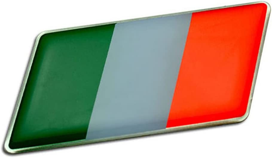 ITALIAN ITALY FLAG Emblem Badge Nameplate Decal Rare for Alfa Romeo 4C Giulietta Quadrifoglio Verde Mito 159 Sportwagon 8C Spider 147 159 Brera Crosswagon Q4 33 145 146 155 156 166 6 6C 1900 2000 2600 GT GTV Sprint Alfetta Alfasud Montreal Giulia