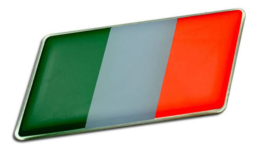 ITALIAN ITALY FLAG Emblem Badge Nameplate Decal Rare for Fiat 124 125 126 131 500 850 1100 1500 Dino Coupe Abarth Volumetrico Argenta Strada Regata Uno Panorama Croma Tipo Tempura Ciquecento Punto Fiorino Qubo Barchetta Brava Bravo Ulusse Palio Marea Multi