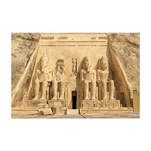 - Egyptian Bath Rugs, Ancient Egypt Abu Simbel Temple Pharaoh Statue Flannel Non-Slip Floor Doormat Entryways Indoor Front Door Mat, Bathroom Accessories Decor, 15.7x23.6in