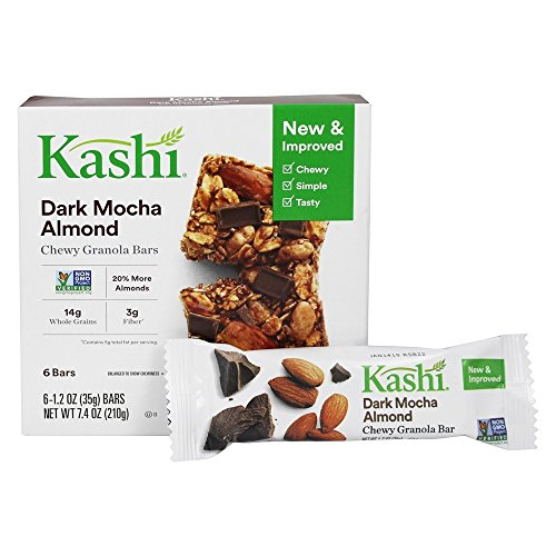 Kashi,Chewy Granola Bars, Dark Mocha Almond, Non-GMO Project Verified, 7.4 oz (6 ()