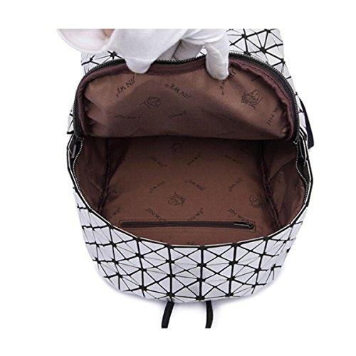 Bolso De Hombro Moda Niños Negro Plata Chica Láser Bolso De Hombro Moda Desenfadado Lingge Big Bag Black