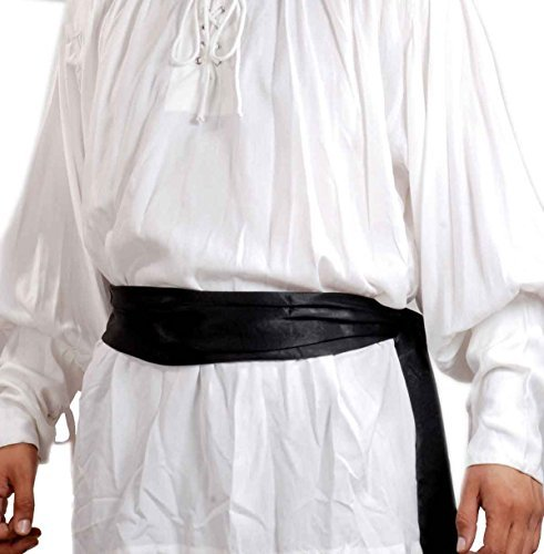 e3cf9e006f ThePirateDressing Pirate Buccaneer Renaissance Medieval Costume Bandana  Sash (Black)