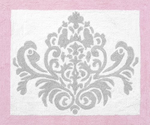 Sweet Jojo Designs Pink, Gray and White Elizabeth Accent Flo