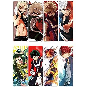 Bowinr 8 Pcs My Hero Academia Bookmarks, Izuku Midoriya Todoroki Shoto  Katsuki Bakugou Bookmark Ideal Gift for Friends and Family(Style 05)