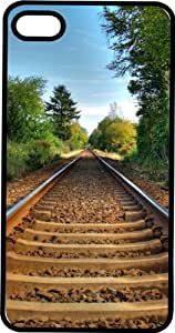 Country Railroad Tracks Black Rubber Case for Apple iPhone 5 or iPhone 5s