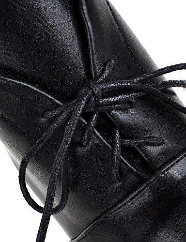 Evénement Bureau Beige Habillé us7 5 Décontracté Xzz White Arrondi 5 Soirée bout Noir Travail Eu38 amp; Uk5 Blanc Cn38 Bout Femme Chaussures Talon Gros qEA8nC8Pw