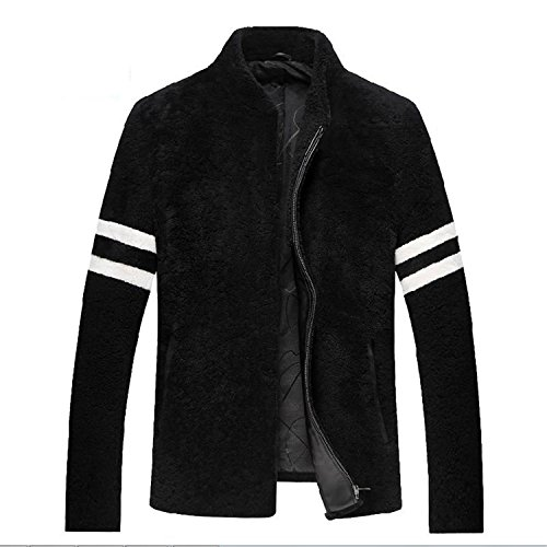 Vazpue Suits Men jacket coat Genuine Leather sheepskin thick soft warm new fashion casual style 320 TOP Quality clothing Sale BlackXXXL by Vazpue Suits