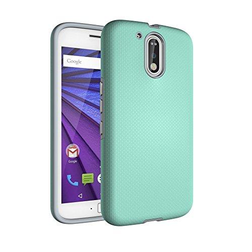 Codream Motorola Moto G4 Plus Case, Accessories Women Case for Motorola Moto G4 Plus, Women Women Bumper Resistance to Shock for Motorola Moto G4 Plus (Green) (Star Pocket Ri)
