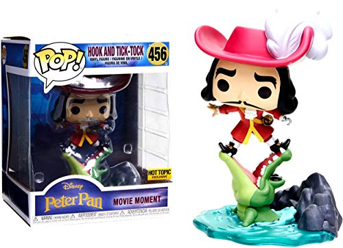 Funko POP Disney Peter Pan Hook and Tic Tock Movie Moment Hot Topic Exclusive 7 inch ()