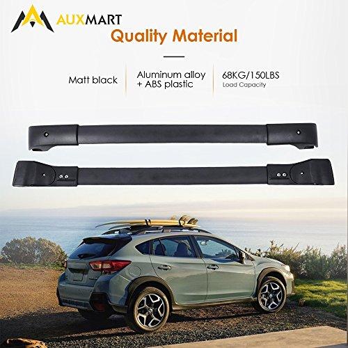 ALAVENTE E361SFJ100 Roof Rack Cross Bars Crossbars System for Subaru Crosstrek 2013-2017 Subaru Impreza 2012-2016 Pair, Black
