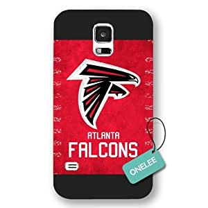 Onelee(TM) - Black Frosted Atlanta Falcons Samsung Galaxy S5 Case & Cover - NFL LOGO Samsung Galaxy S5 Case & Cover - Black 1