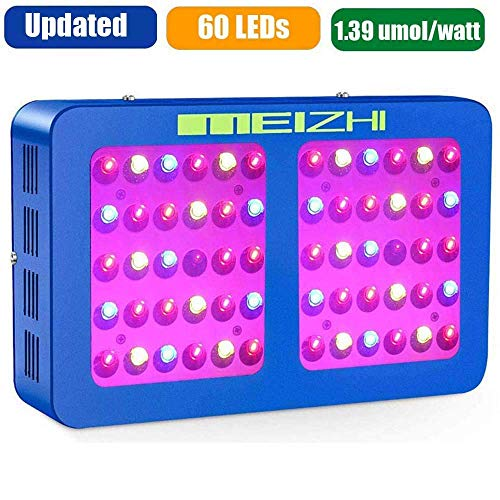 MEIZHI 300W 450W 600W 900W 1200W LED Grow Light Reflector Series Full Spectrum for Indoor Plants Veg Flower, Dual Growth and Bloom Switches 300W led Growing Lamp, replace other brands 600W grow lights ()
