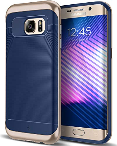 Caseology for Galaxy S7 Edge case [Wavelength Series] - Slim Fit Dual Layer Protective Textured Grip Corner Cushion Design Case for Galaxy S7 Edge - Navy Blue