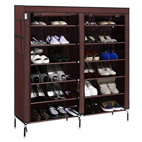 Homdox Portable Shoe Storage Cabinet Space Saving Shoe Tower Rack Organizer