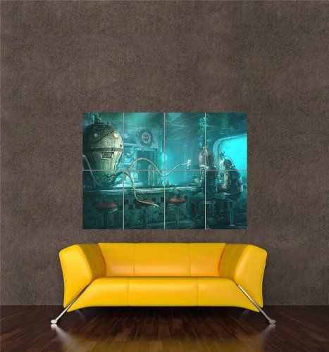 UNDERWATER OCTOPUS STEAMPUNK PICTURE POSTER product image