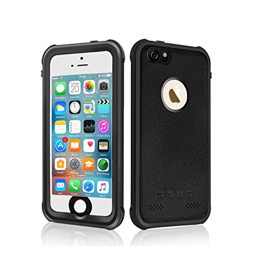 Price comparison product image Waterproof iPhone 5/5s/SE Case,OWKEY Shock Snow Dust Dirty Proof Full-sealed Protective Hard Cover, Underwater IP68 Certificated with Touch ID Case for iPhone 5 5S SE-Black