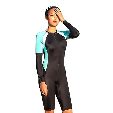 Cebbay - Mujer Traje de Surf Protegido del Sol Ropa Manga ...