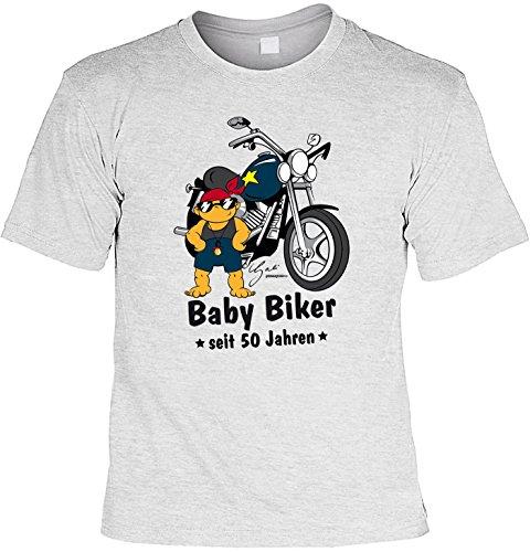 T-Shirt - Baby Biker Seit 50 Jahren - lustiges Sprüche Shirt als Geschenk zum 50. Geburtstag