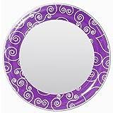 3C4G Magnetic Locker Mirror, Purple Scroll