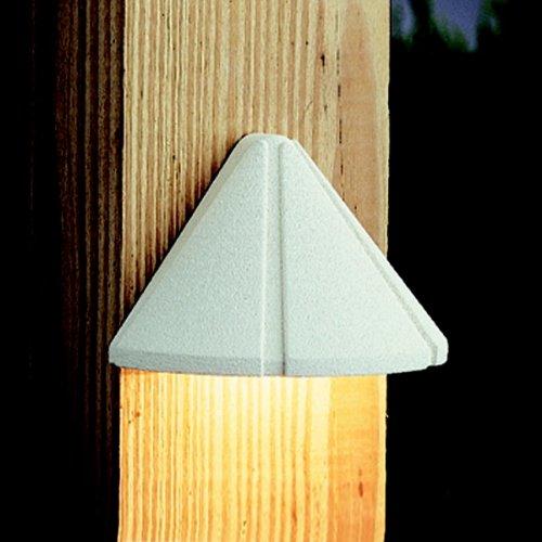 Kichler 12v Deck (Kichler 15065WHT Six Groove Deck 1-Light 12V, Textured White)