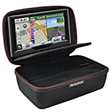HESPLUS Hard Shockproof EVA Carrying Storage Travel Case Bag for 6-7'' Inch Garmin nuviCam nuvi 2797LMT 65LM 2757LM 2689LMT Tomtom Go Via Mio GPS Navigator and Accessories (Black)