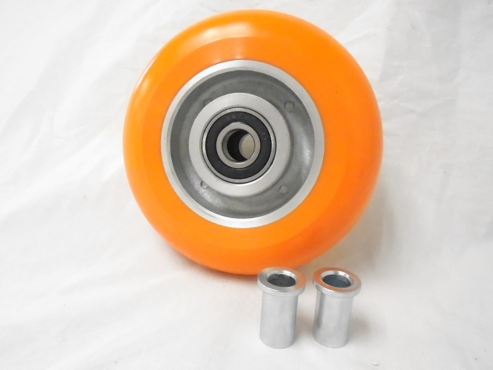6'' X 2'' Orange Polyurethane Caster Wheel 1200 Lbs Each M.f.g USA