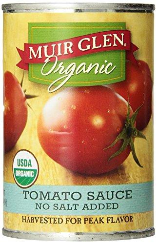 Muir Glen Organic Tomato Sauce, sans sel ajouté, boîtes de 15 onces (paquet de 12)
