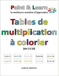 Tables De Multiplication A Colorier De 1 A 10 Defevere