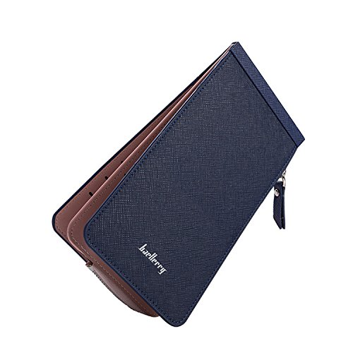 Womens RFID Blocking Leather Wallet Mini Purse With Zipper Pocket Card Case