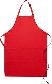 product image for DayStar Apparel Three Pocket Butcher Apron - Style 223 (1, red)