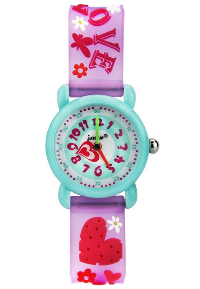 Cheamlion Kids Toddler Girls Red Cute Love Elastic Analog Wrist Quartz Watch