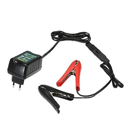 KKmoon Cargador Batería Moto 1.5 Amp 6/12V Mantenimiento ...