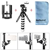 fantaseal DSLR Camera + Smartphone Mini Octopus Tripod 3-in-1 Flexible Outdoor Tripod Table Desk Tripod Travel Portable Tripod Stand Holder for iPhone 7+ iPhone 7 Huawei Selfie Tripod
