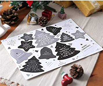 Amazon Com 28pc Diy Gift Tags Xmas Tree Star Christmas Bell